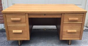 Solid Oak Teacher's Desk