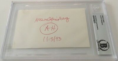 Allen Ginsberg Signed Autographed 3x5 Card BAS Certified Poet Beat Generation