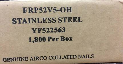 Airco YF522653 Stainless Steel Ring Coil Nails - 50mm Domed