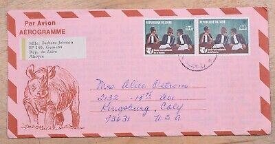 MayfairStamps Zaire 1970 Pair International Year of the Women to Kingsbury Calif