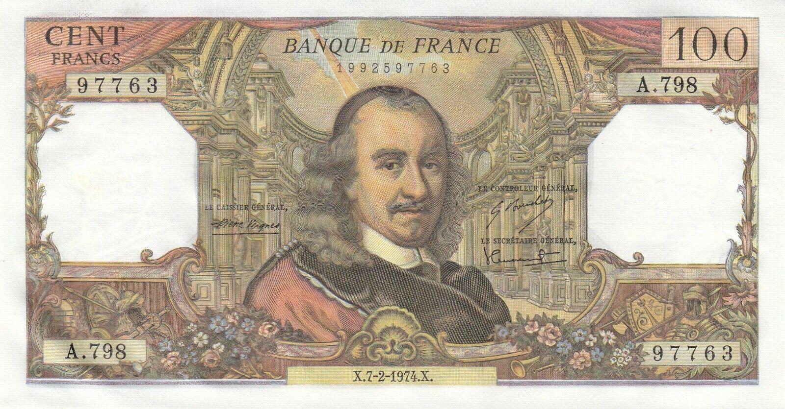 RECTO 100 Francs Type 1964 Corneille - None