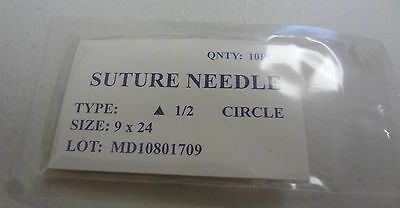 Veterinary Suture Needles Pack 10 Round Bodied