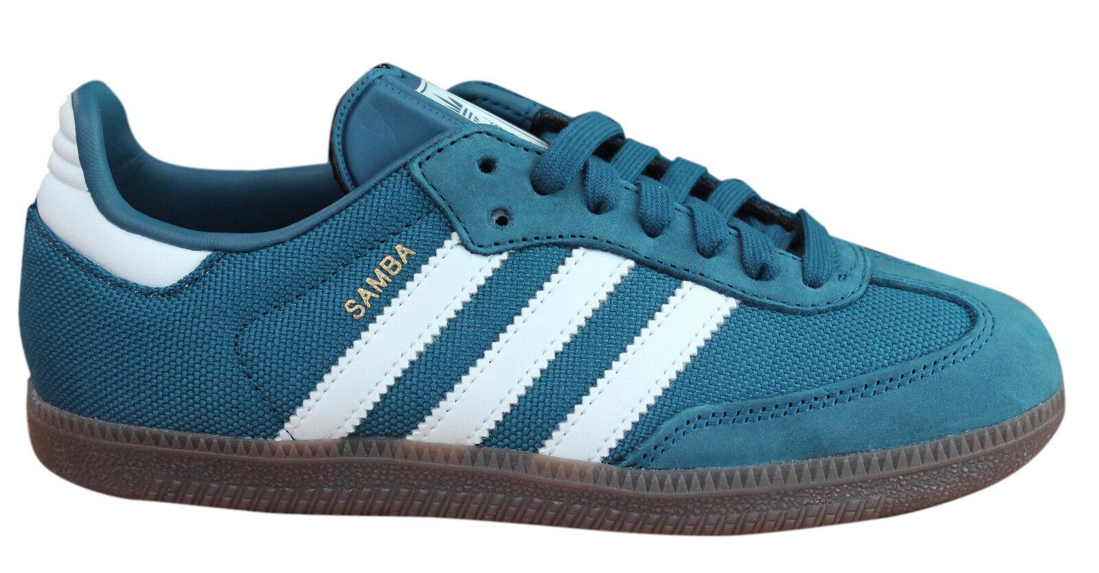 Adidas Originals Samba Mens Trainers Lace Up Shoes Blue Suede ... 65722691d671