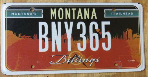 MONTANA  BILLINGS / TRAIL HEAD  specialty license plate  2017   BNY365