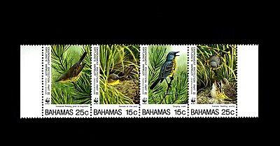BAHAMAS - 1995 - BIRD - KIRTLAND'S WARBLER - SINGING - NEST ++ MINT MNH SET!