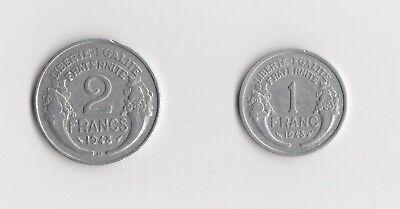 "1Franc   Paris 1948   /   2 Francs Frankreich ""B""  1948  (1678)"