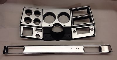 81-83 chevy GMC NEW pickup truck dash bezel gauge cluster cover brushed aluminum