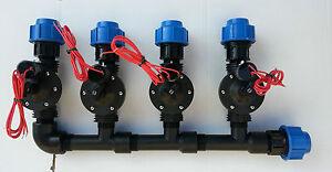 Collettore irrigazione 4 elettrovalvola 1 per impianto for Elettrovalvola giardino
