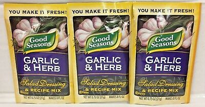 Good Seasons Garlic & Herb Salad Dressing Mix (3 Pack)