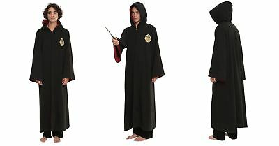Harry Potter Hogwarts Hooded Robe Cosplay Costume Wizard Cloak Hoodie Mens L/XL