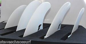 Futures Fins F8 Thermotech 5 fin Tri-quad set NEW F8 sides & Centre QD2 rears