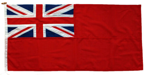 Red ensign traditionally sewn MoD approved woven flag fabric uk merchant civil