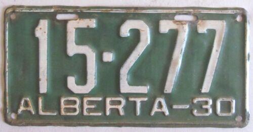Alberta 1930 License Plate NICE QUALITY # 15-277