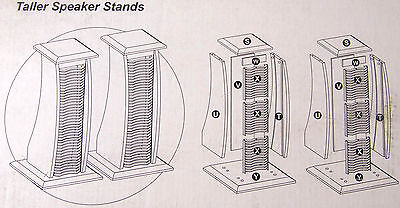 1 - pair KENMARK Taller Speaker Stands with built in CD Racks - KM-3920 for sale  Shipping to India