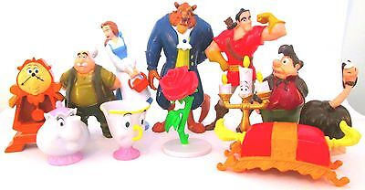 BEAUTY AND THE BEAST Figure Play Set DISNEY PVC TOY Belle MAURICE Gaston LUMIERE