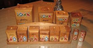 Vintage boxes and spice rack