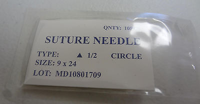10 Pcs Pack Suture Needles 12 Circle Surgical Instruments