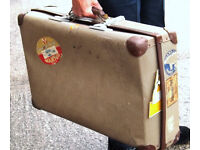 Large Vintage Suitcase Ideal Prop for Theatre Group c1950/60s (WH_1032)
