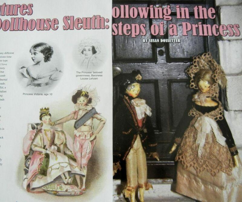 15p History Article + Pics - Antique Queen Victoria Peg Wooden Dollhouse - Dolls