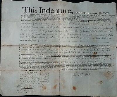 Original Indenture Burwell Betts to Jonathan Burr Brunswick, NY  April 7,1811