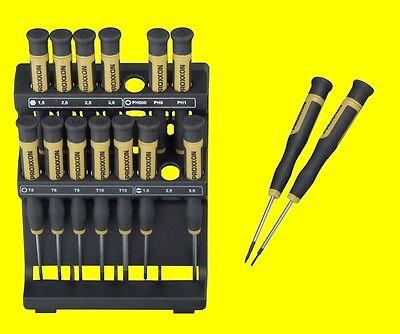 PROXXON 28148 Micro Schraubendreher Feinstschraubendreher 15 teilig mit Halter