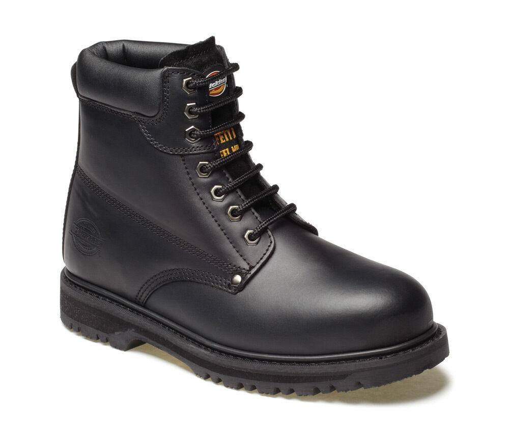 DICKIES pour homme léger en acier orteil casquette sécurité concessionnaire travail bottes chaussures noire sz 11