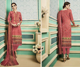 Latest Unstitched Pashmina Salwar Kameez with self embroidery winter suit