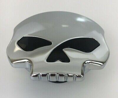 Skull Gas Tank Vented Fuel Cap Chrome Harley Dyna Softail Sportster XL RoadKing