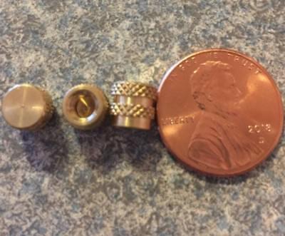 100 Bulk Pack #8-32  6mm Brass Threaded Heat Set Screw Inserts for 3D (100% Heat Set)