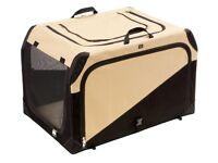 Hunter 44957 Dog Transportation Box Soft Crate Beige / Black Size Medium M