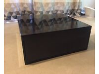 Coffee Table - Black High Gloss - £50