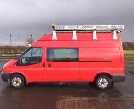 13 Ford Transit 300 LWB Hi- Top Crew Van