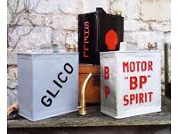 1920s Vintage Petrol Cans