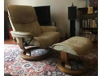 Ekornes Stressless Reclining Chair With Footstool