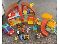 Bing house, car and park set