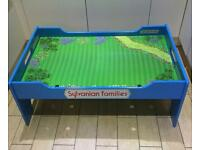 Sylvanian Families - blue play / display table - hard to find