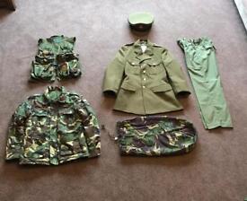 Children's army dress up