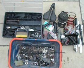 Cycle regalia lights, pumps, spare parts spanners keys etc
