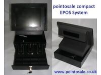 Corner shop compact epos system & cash drawer w/ full software & 5 million barcode database