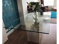 Travetine dining table