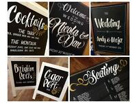 Wedding Chalkboard Artist - Custom Signage - Sign Writer - Blackboard Designer (UK & Worldwide)