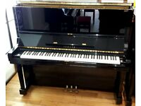 Yamaha U3 Traditional Upright Piano Polished Ebony Cabinet