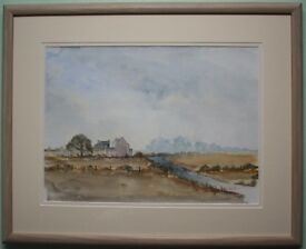 Original Watercolour Painting AUTUMN DAY AT AN IRISH FARM by Artist HARRY REID