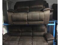 New/Ex Display ScS Fabric 3 Seater Sofa + 2 Seater Sofa