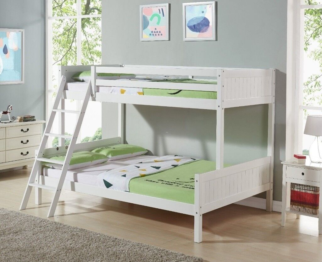 Double Bunk Bed 4ft Double And 3 Ft Single Fantastic Condition
