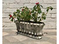 Art Deco Vintage Garden Planter Cast Iron #785