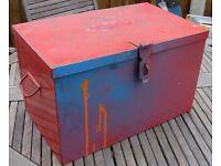 Heavy Duty Red Steel Tool Storage Box Chest