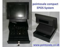 Restaurant compact epos system & cash drawer w/ full software easy stock control & indv' staff sales