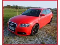Audi A3 S line 2.0 TDI 170BHP SPORTS BACK Full leather 2007 12 months mot A4 A5 A6 TT VW S3