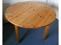 Solid Pine Round Kitchen or Dining Table